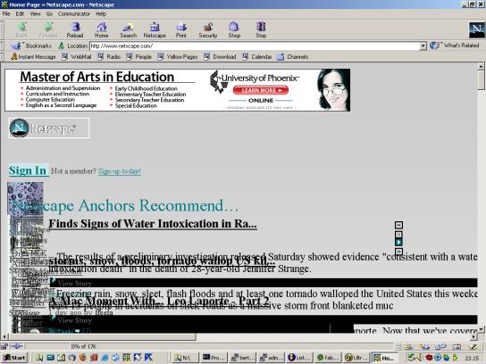 Netscape.com con NN4